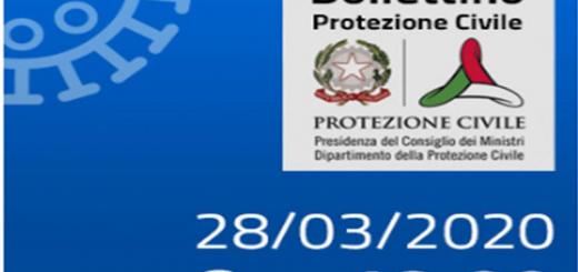 Bollettino Covid-19 i casi in Italia alle ore 18 del 28 marzo