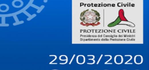 Bollettino Covid-19 i casi in Italia alle ore 18 del 29 marzo