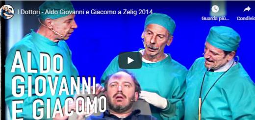 I Dottori – in questo video mostreremo uno show divertentissimo presentato dall'equipe dei dottori del professor Alzheimer sul palco di Zelig 2014! Aldo Giovanni e Giacomo con Gianluca De Angelis.