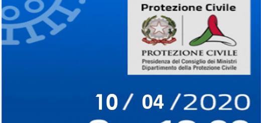 Bollettino Covid-19 i casi in Italia alle ore 18 del 10 aprile