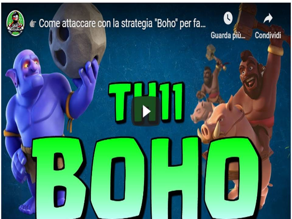 Clash of Clans - Boho TH11una strategia da non sottovalutare su CoC