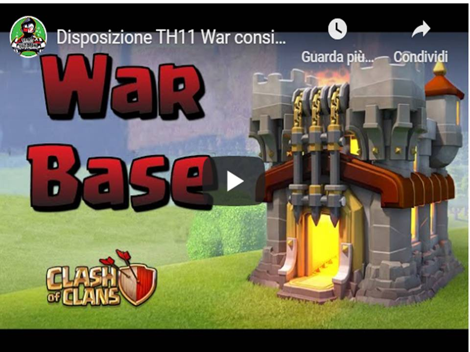 Clash of Clans - Disposizioni villaggio base TH11 guerra tra Clan