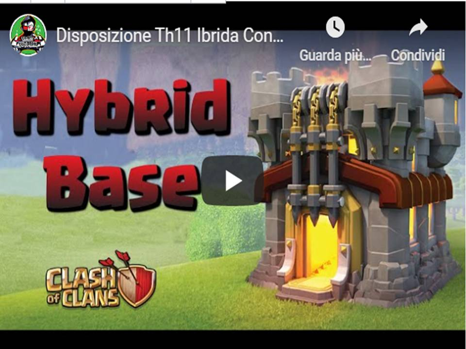 Clash of Clans - Disposizioni villaggio base TH11 ibrida