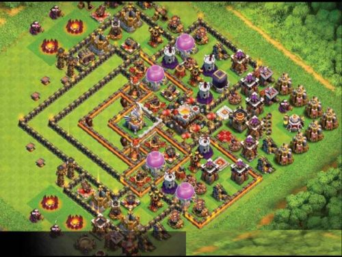 Clash of Clans  – Disposizioni TH11 Farming presa dal web