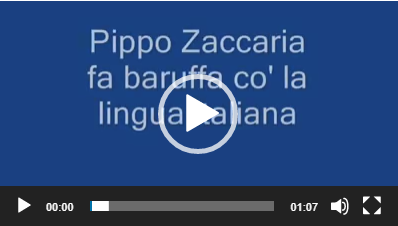 Pippo Zaccaria fa baruffa con la lingua Italiana