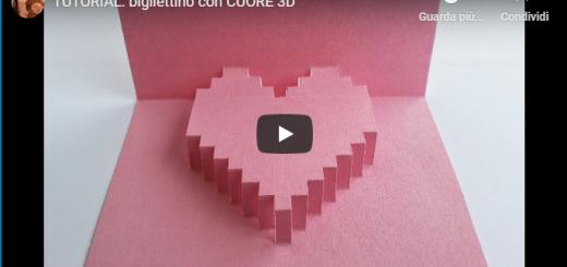 Fai da Te Festa della Mamma - bigliettino con CUORE 3D