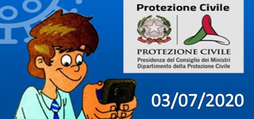 Bollettino Covid-19: i casi in Italia alle ore 18 del 03 luglio