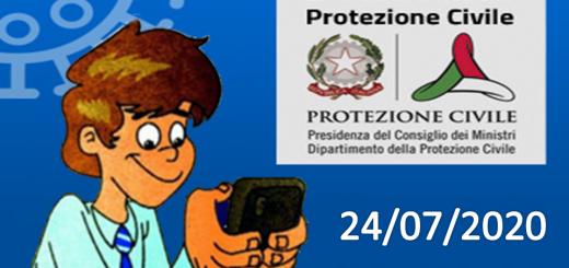 Bollettino Covid-19: i casi in Italia alle ore 18 del 24 luglio
