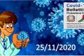 Bollettino Covid-19: i casi in Italia alle ore 18 del 25 novembre