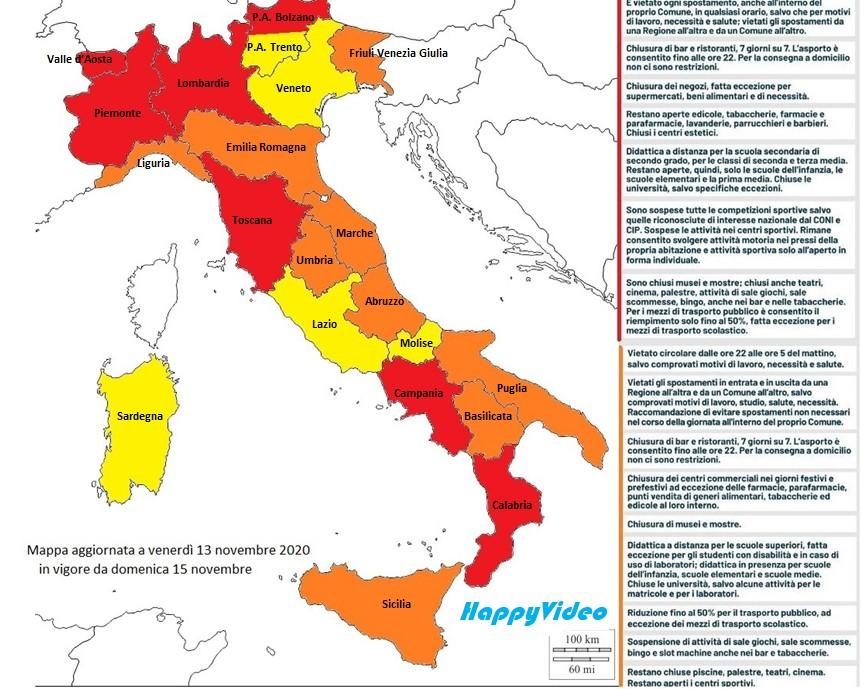 Classificazione Regioni 13 novembre