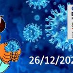 Bollettino Covid-19 i casi in Italia alle ore 18 del 26 dicembre