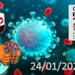 Bollettino Covid-19 i casi in Italia alle ore 18 del 24 gennaio