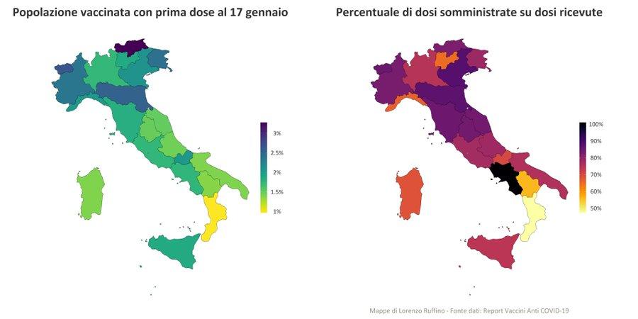 vaccinazioni covid italia 17 gennaio 2021