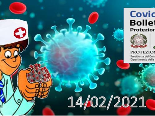 Bollettino Covid-19: i casi in Italia alle ore 18 del 14 febbraio